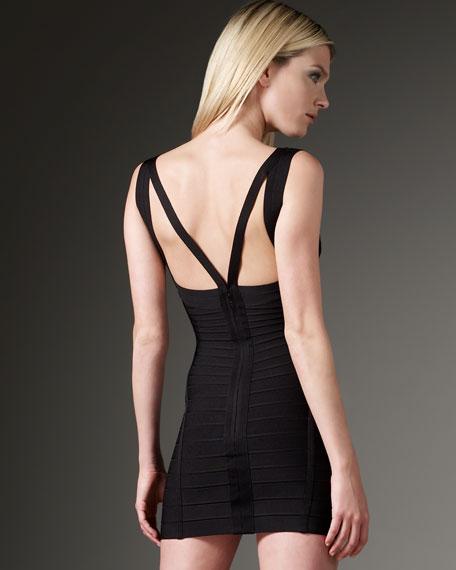 Strap-Yoke Mini Dress