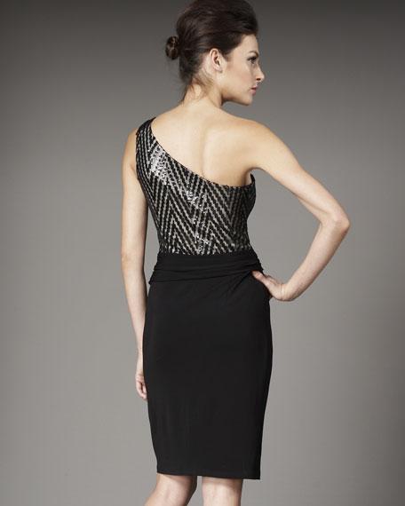 Zigzag Sequin Dress