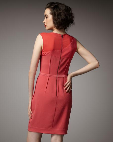Mixed-Media Sleeveless Dress