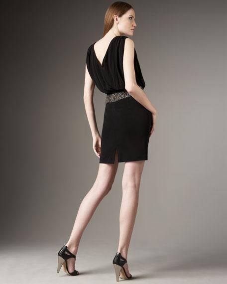 Grommet-Waist Dress