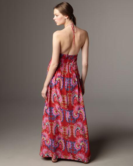 Crepe-de-Chine Maxi Dress