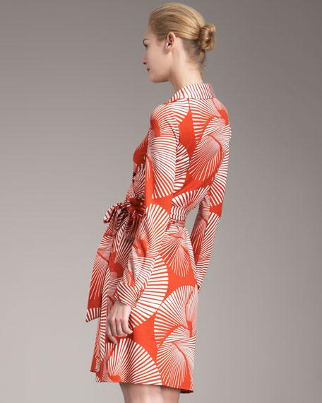 Joan Long-Sleeve Wrap Dress
