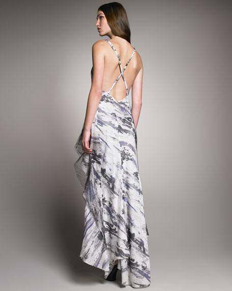 Abstract-Print Maxi Dress