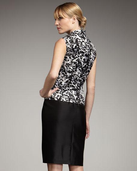Animal-Print Satin Suit