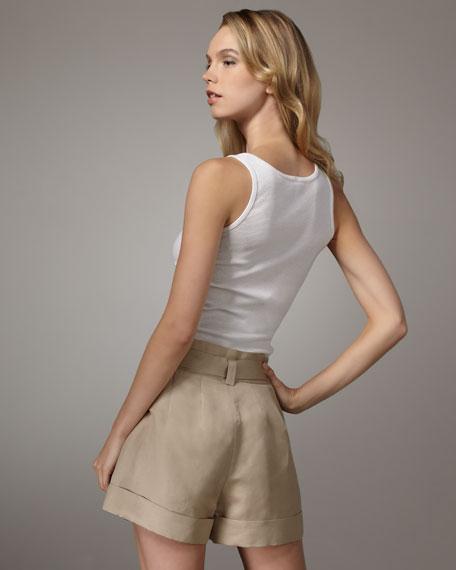piper tie-waist shorts