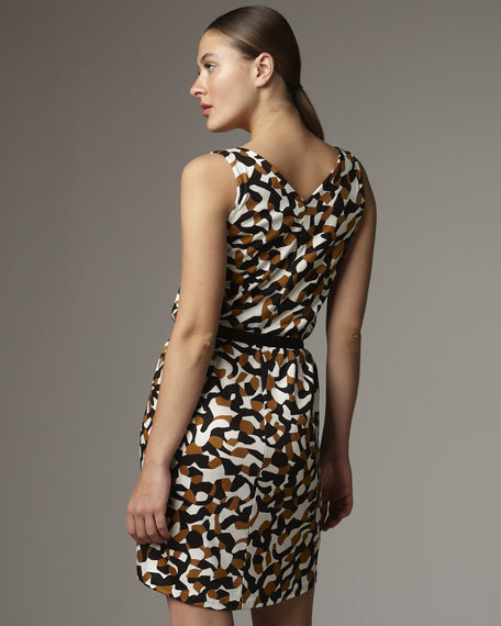 Lida Printed Draped Dress