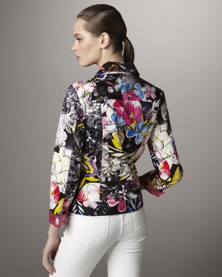 Anime Garden-Print Jacket