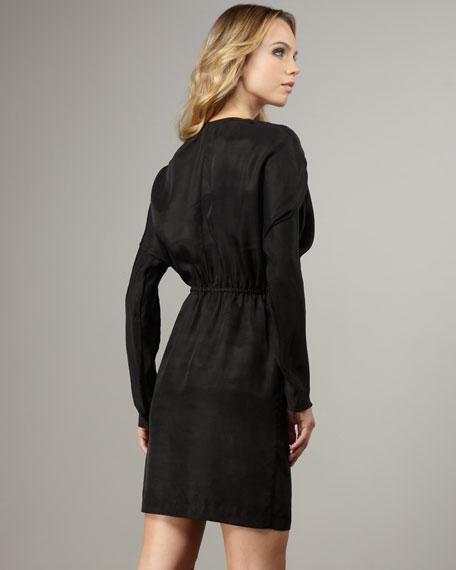 Shirred-Shoulder Dress