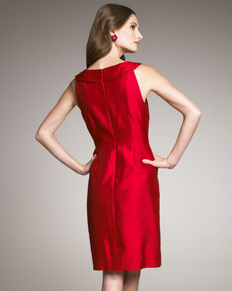 minnie shantung sheath dress