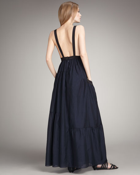 Rex Tiered Low-Back Maxi Dress