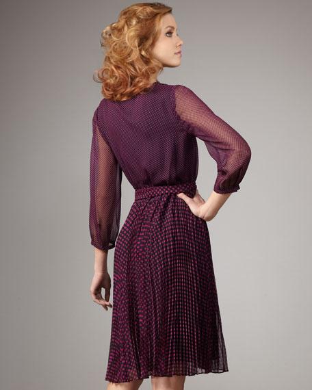 Polka-Dot Combo Dress
