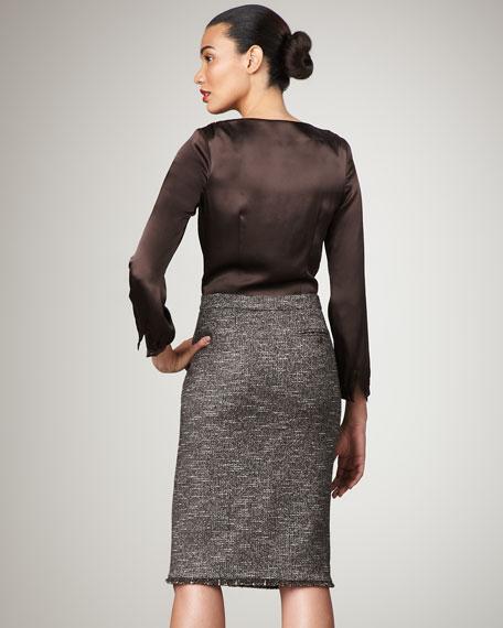 Silk/Boucle Combo Dress