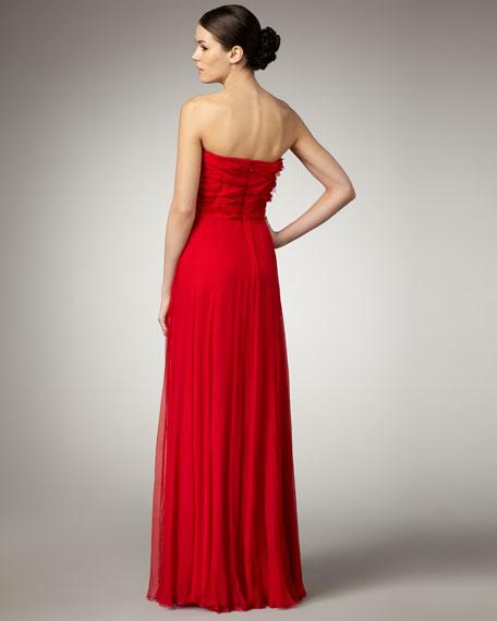 Strapless Rosette Gown