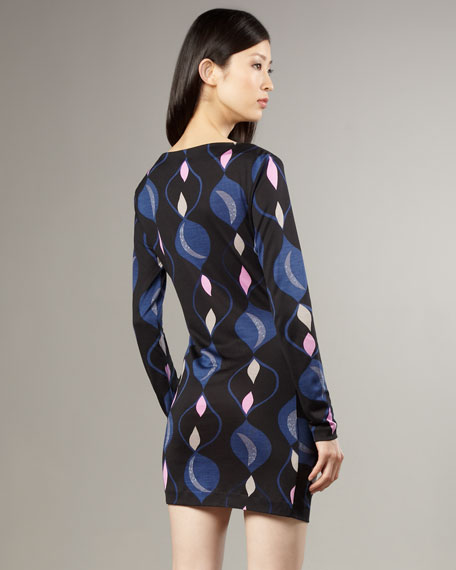 Jarely Hourglass-Print Dress
