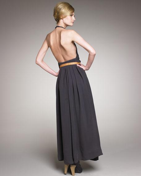 Silk Halter Gown
