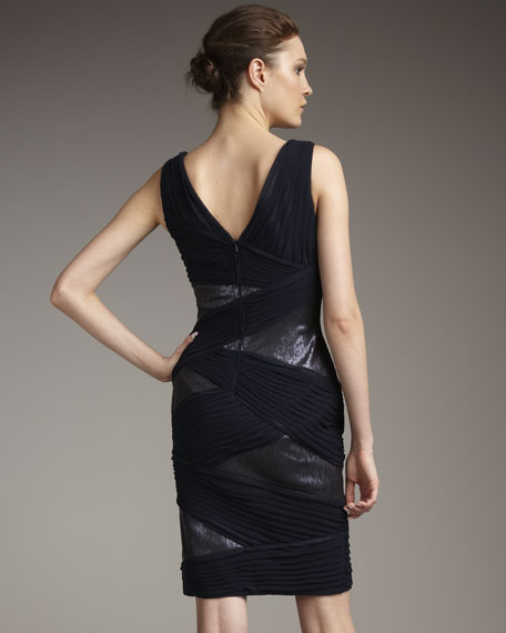 Ruched Sequined Dress
