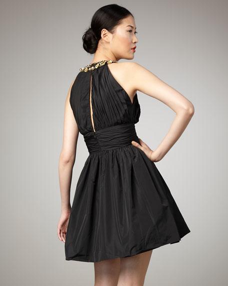 Mackenzie Gathered Dress, Black