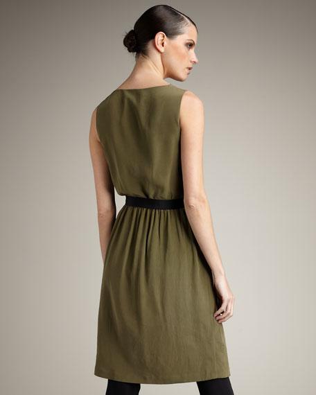 Draped Silk Dress