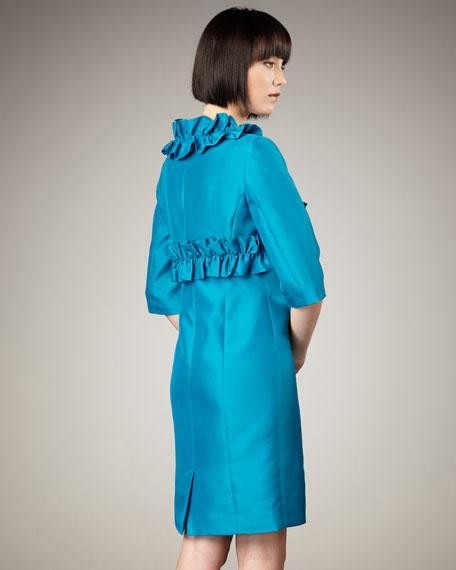 Ruffled Bolero & Sleeveless Dress