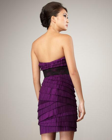 Strapless Ruffle-Tier Dress