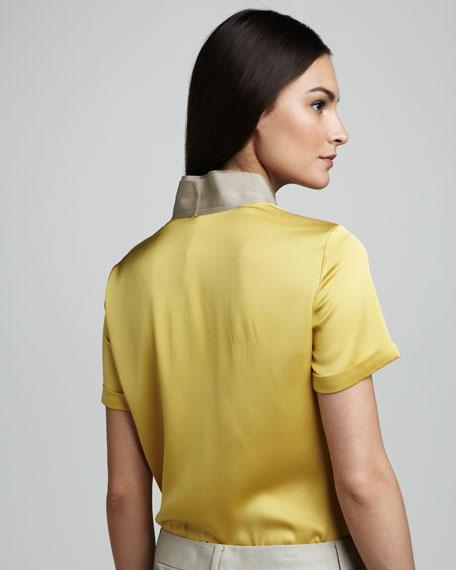 Heather Short-Sleeve Blouse