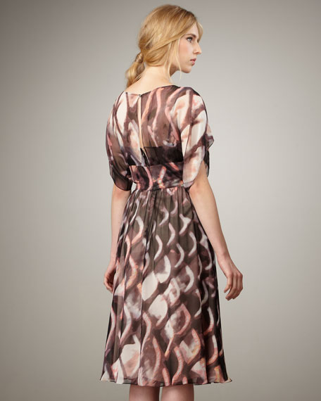 Abstract-Print Flowy Dress