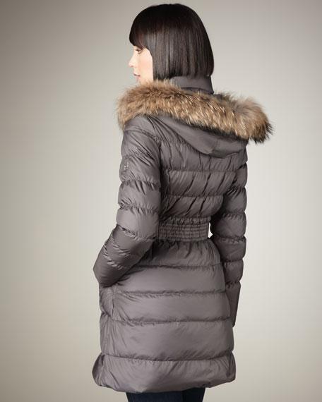 Nina Fur-Trim Puffer Coat