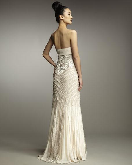 Sleeveless Empire Embellished Waist Dress