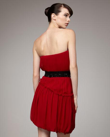 Asymmetric Bubble-Hem Dress