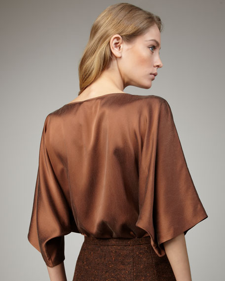 Charmeuse Top, Vicuna