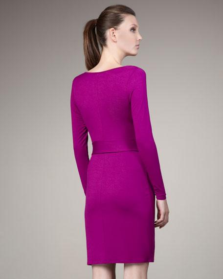 Draped-Front Body Dress