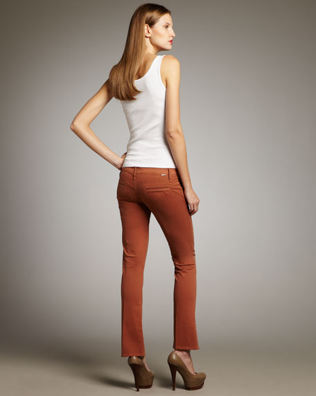 The Runaway New Rust Cropped Skinny Flare Pants