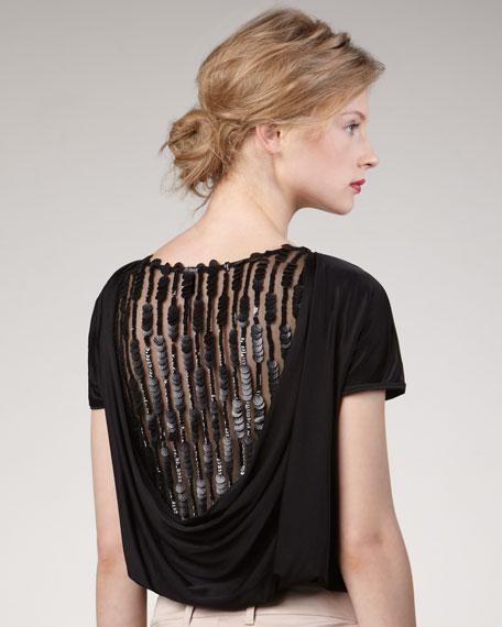 Sequin-Back Bodysuit