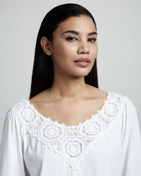 Crochet-Trim Tunic