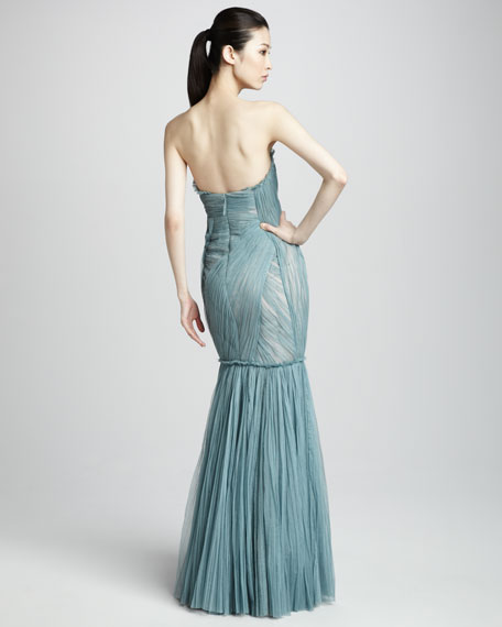 Silk Tulle Mermaid Gown