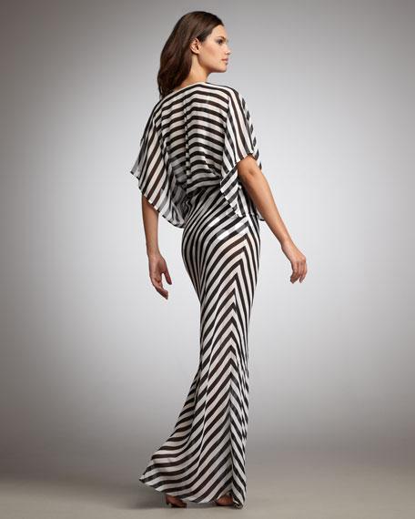 Obie Striped Gown Coverup