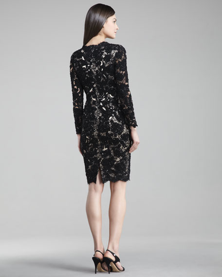 Long-Sleeve Lace Dress