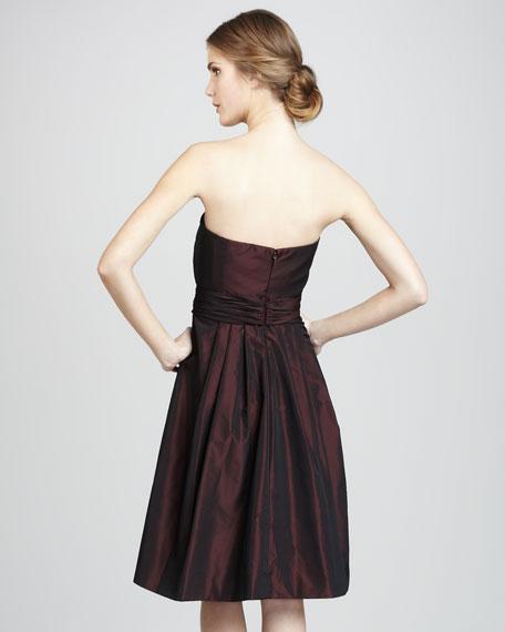 Sandy Strapless Taffeta Dress