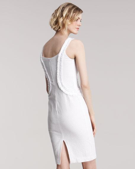 Eyelet Sheath Dress