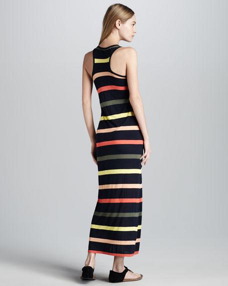 Striped Knit Maxi Dress