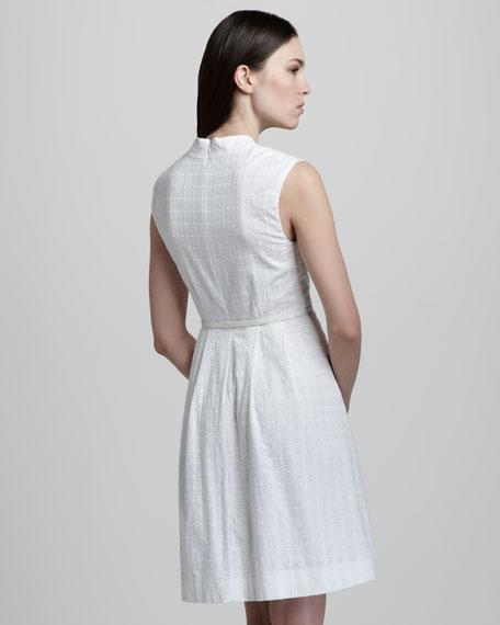 brittany belted eyelet dress
