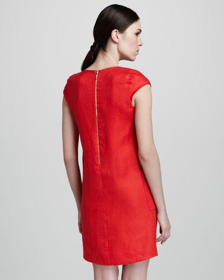 teri linen shift dress