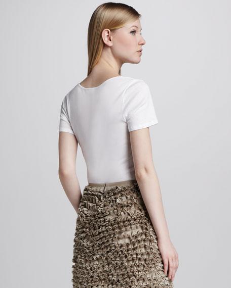 Poplin Pinked Ruffle Skirt