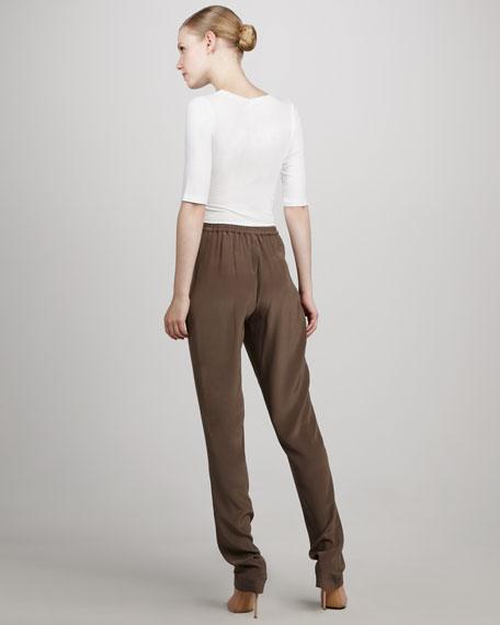 Tapered Silk Pants, Java
