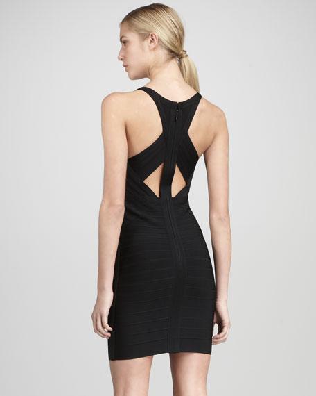 V-Neck Crisscross Bandage Dress