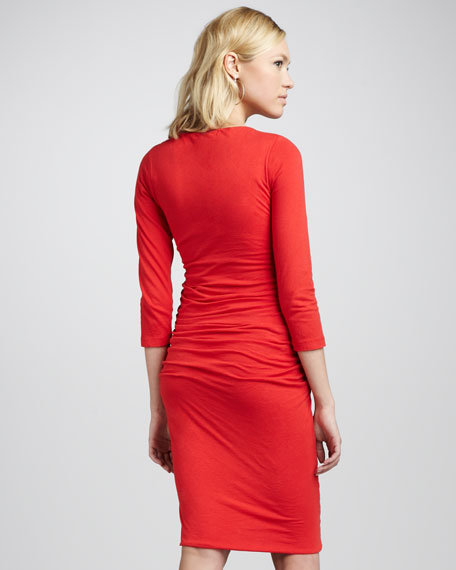 Rumba Gathered Jersey Dress