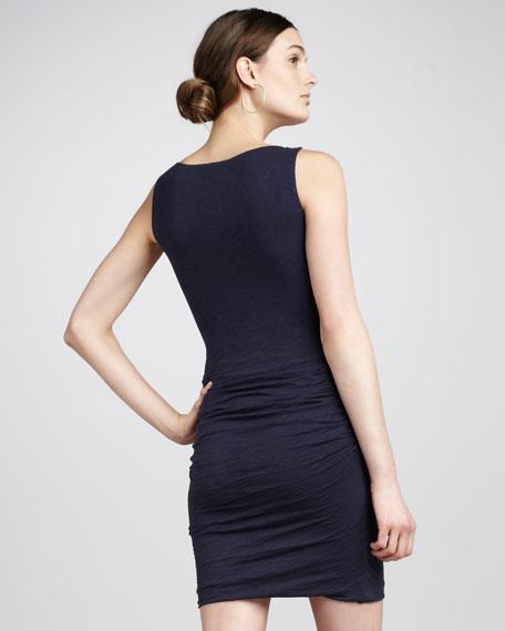 Gathered-Skirt Jersey Dress