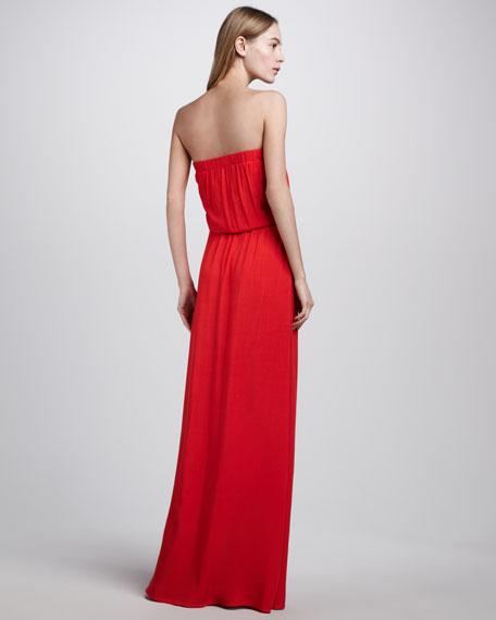 Paprika Strapless Blouson Maxi Dress