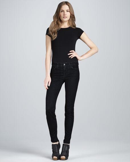 811 Herringbone Skinny Jeans