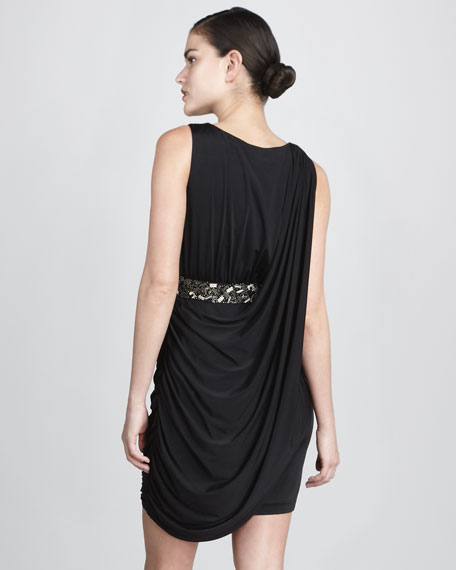 Sleeveless Sash Dress